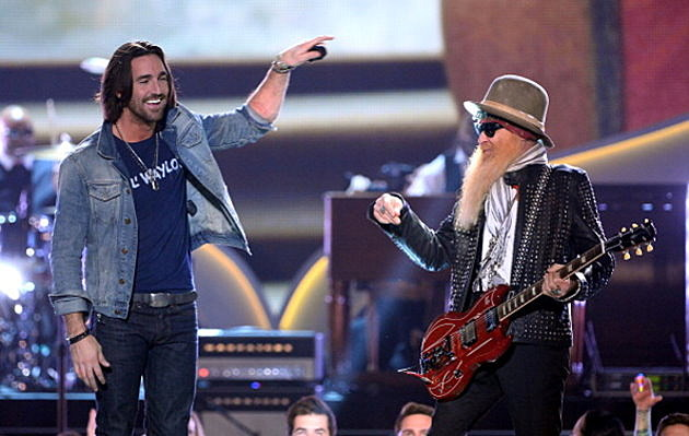 Jake Owen and Billy Gibbons of ZZ Top